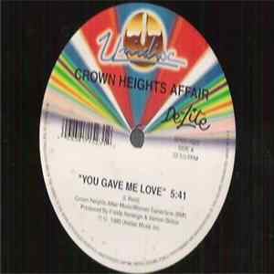 Crown Heights Affair - You Gave Me Love / Galaxy Of Love flac-Album
